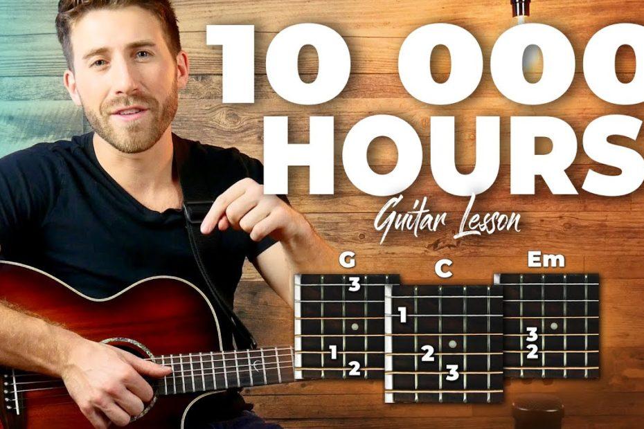 10 000 Hours (Justin Bieber, Dan + Shay) Guitar Lesson - Chords AND Fingerpicking