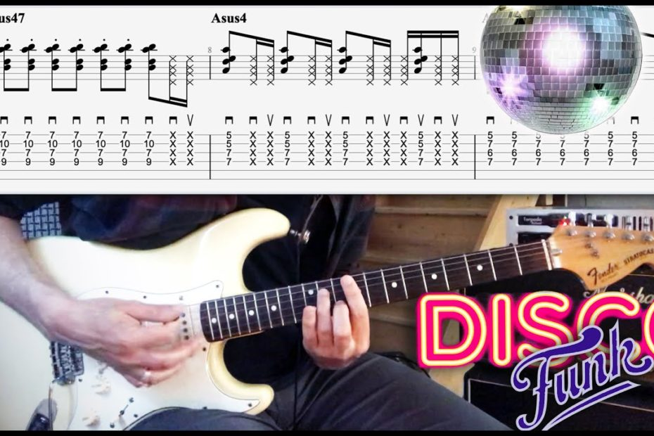 10 Great Disco/Funk Riffs (Chic, Donna Summer...) | TAB | Tutorial | Lesson | Cover