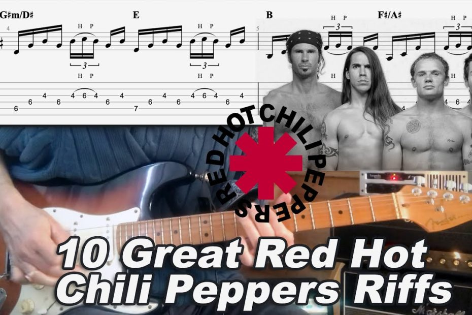 10 Great Red Hot Chili Peppers Riffs - Tab | Tutorial | Lesson | Covers