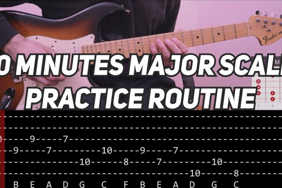 10 Minutes Major Scale Practice Routine (with TAB)