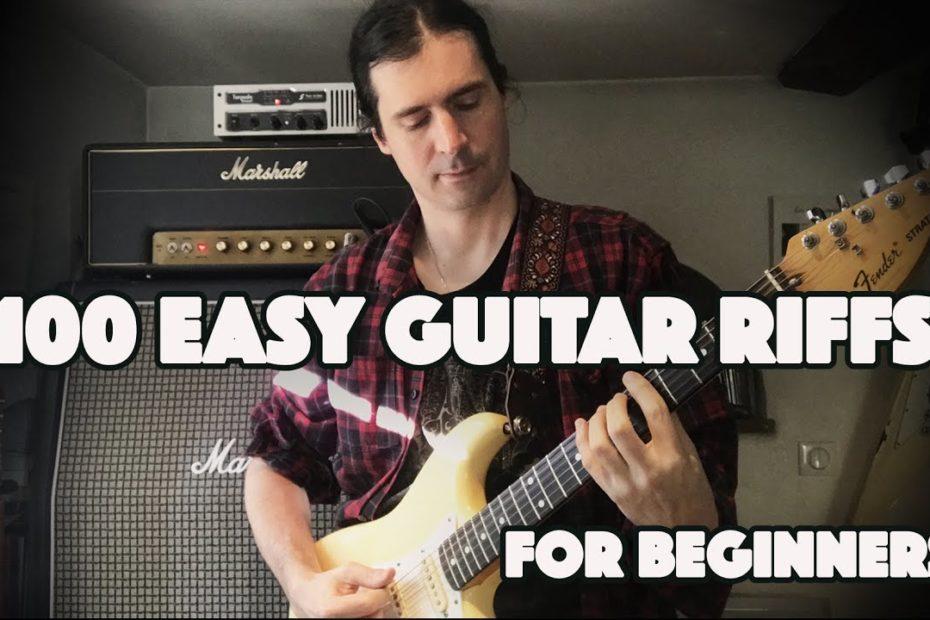 100 Easy Guitar Riffs + TAB