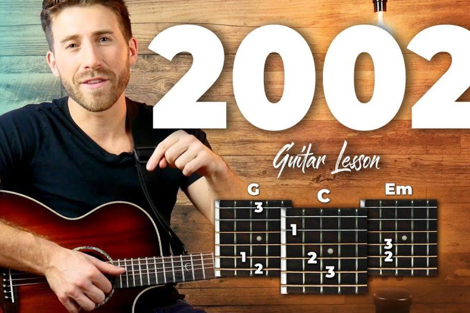 2002 Guitar Tutorial / Easy Chords Guitar Lesson (Anne Marie)