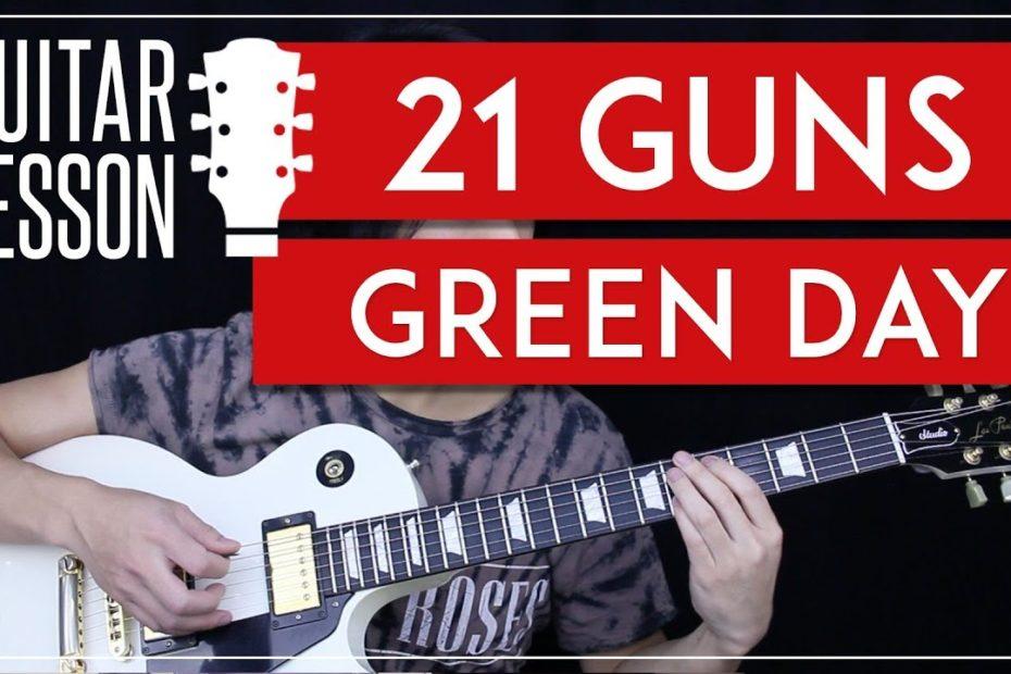 21 Guns Guitar Tutorial - Green Day Guitar Lesson   |Tabs + Solo + Guitar Cover|