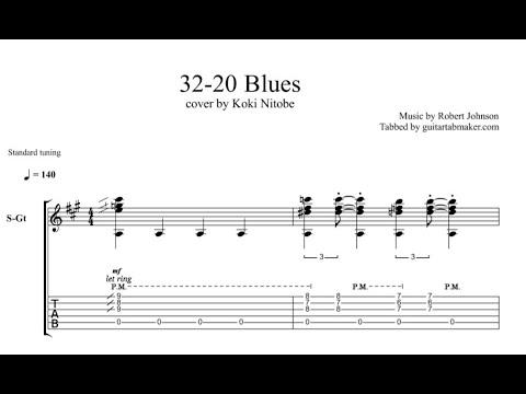 32 20 Blues TAB - acoustic blues guitar tabs (PDF + Guitar Pro)
