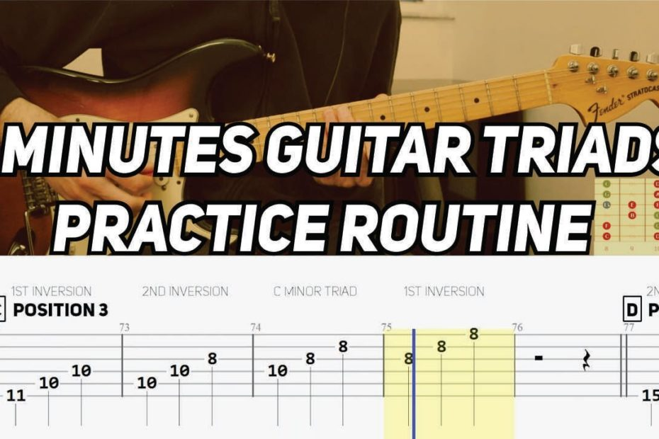5 Minutes Guitar Triads Practice Routine (with TAB)
