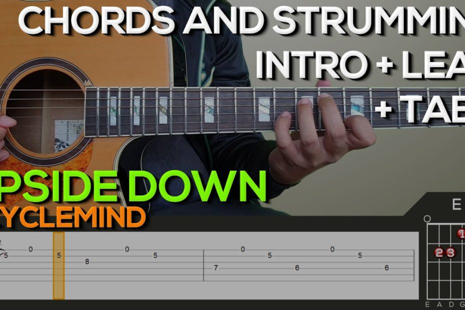 6CycleMind - Upside Down Guitar Tutorial [INTRO, LEAD, CHORDS AND STRUMMING + TABS]