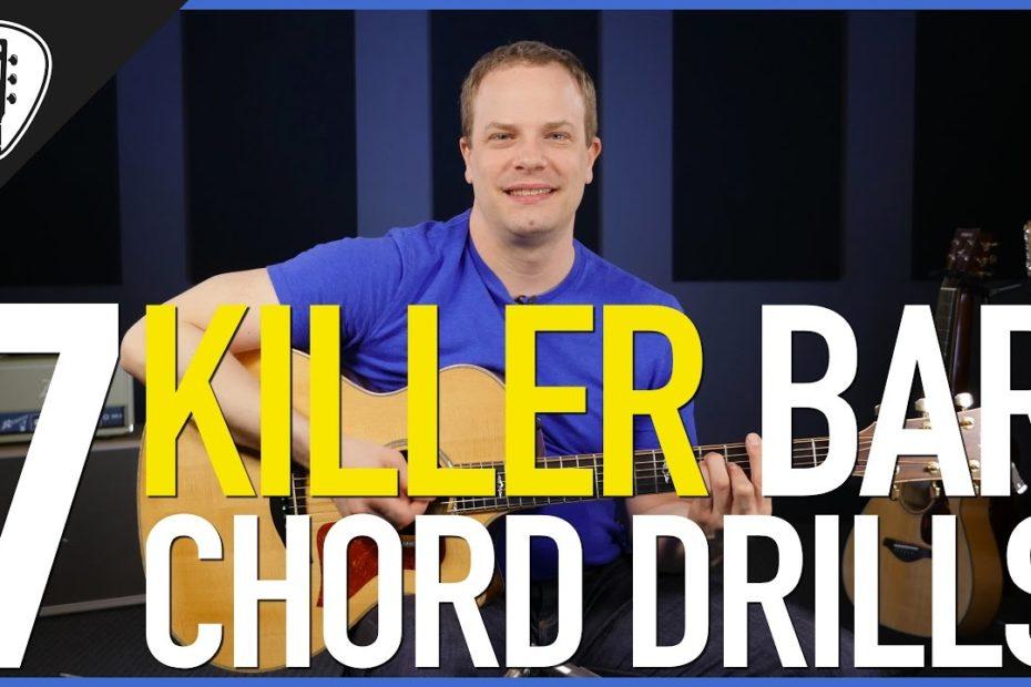 7 Killer Bar Chord Drills - Rhythm Guitar Lesson