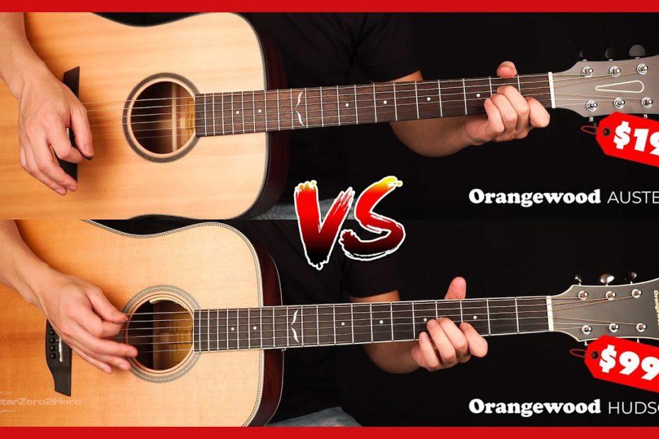 $995 vs $195 Guitar Orangewood Hudson vs Orangewood Austen - Can You Hear The Difference?