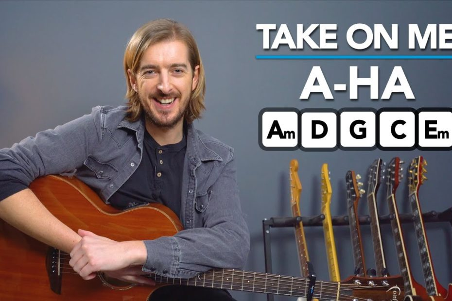 """a-Ha """"Take On Me"""" Acoustic Guitar Lesson Tutorial"""