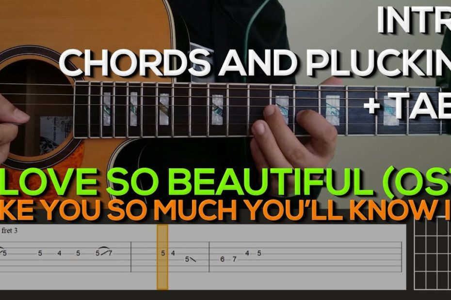 A Love So Beautiful (OST) - I Like You So Much You'll Know It Guitar Tutorial [CHORDS + TABS]