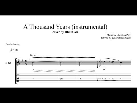 A Thousand Years TAB - electric guitar solo tab - PDF - Guitar Pro