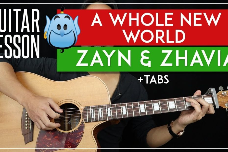 A Whole New World Guitar Tutorial   Aladdin Movie Zayn & Zhavia Guitar Lesson |Chords + TAB|