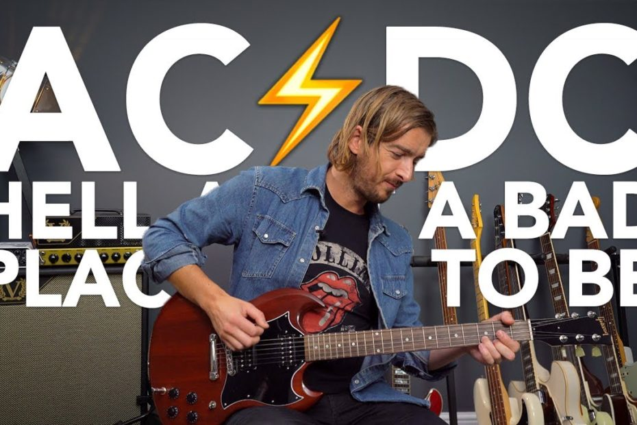 AC/DC - Hell Ain't A Bad Place To Be Guitar Lesson Tutorial - Chords & Riffs