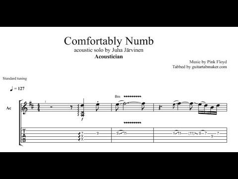 Acoustician - Comfortably Numb solo TAB - acoustic guitar solo tab (PDF + Guitar Pro)