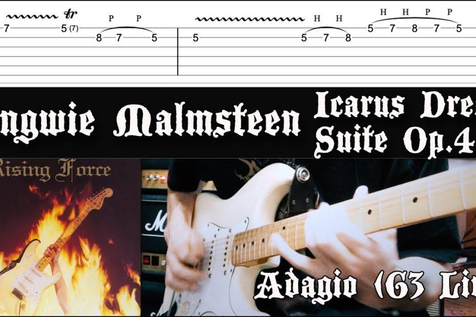 Adagio - Yngwie Malmsteen Cover | Tab Tutorial Lesson