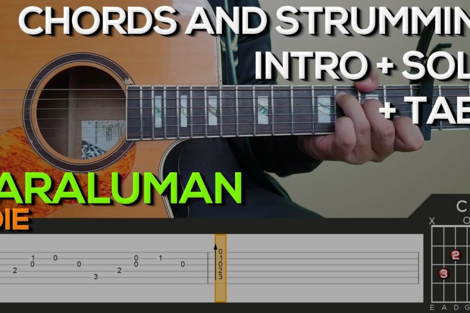 Adie - Paraluman Guitar Tutorial [INTRO, SOLO, CHORDS AND STRUMMING + TABS]