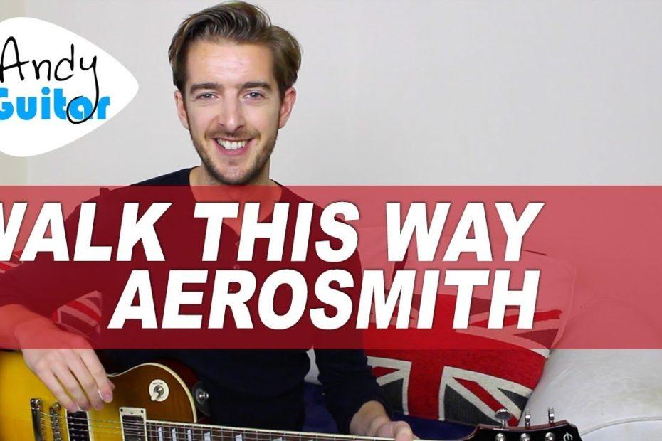 Aerosmith - Walk This Way Guitar Lesson - Electric Guitar Tutorial