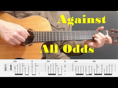 Against All Odds - Phil Collins - Fingerstyle guitar with tabs