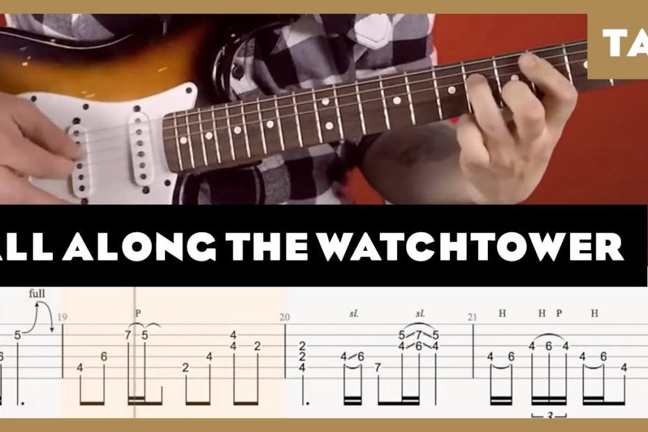 All Along the Watchtower Jimi Hendrix Cover | Guitar Tab | Lesson | Tutorial