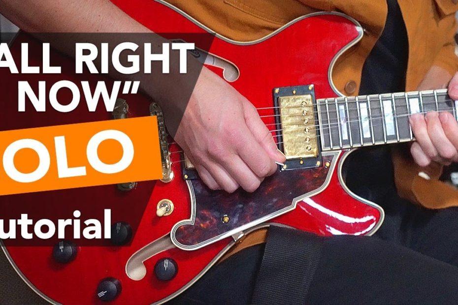 """All Right Now"" Guitar SOLO tutorial -  Paul Kossoff's Lead Guitar Secrets"