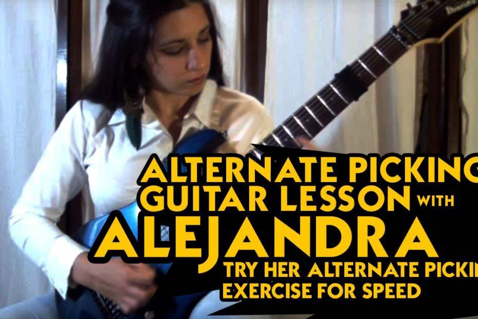 Alternate Picking Exercise - Super Fast Alternate Picking Lick Lesson