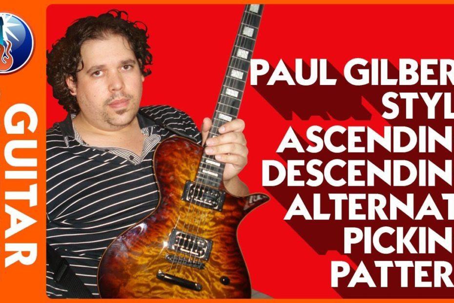 Alternate Picking Exercises - Paul Gilbert Style Ascending Descending Alternate Picking Pattern