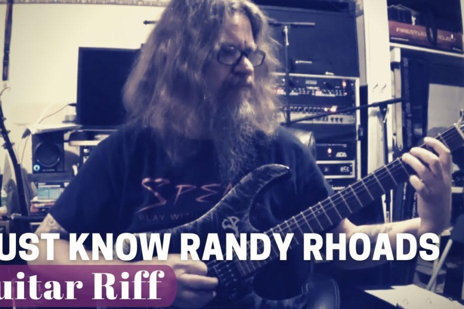 Amazing Epic Must Know Randy Rhoads Riff Lesson