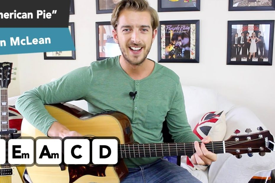 """""""American Pie"""" Guitar Lesson Tutorial - Made Simple for Beginners"""