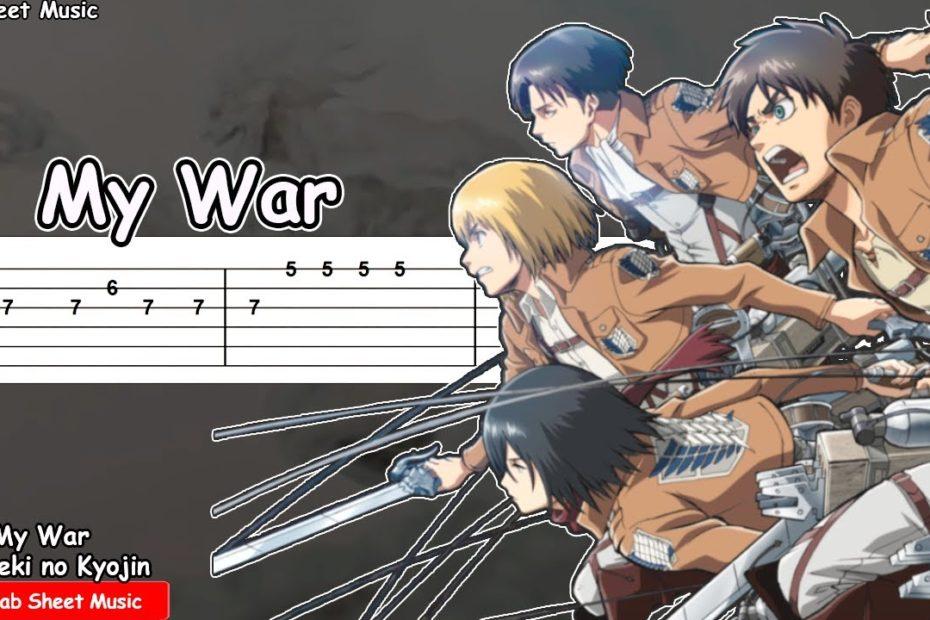 Attack on Titan Season 4 (Final Season) OP - Boku no Sensou / My War Guitar Tutorial