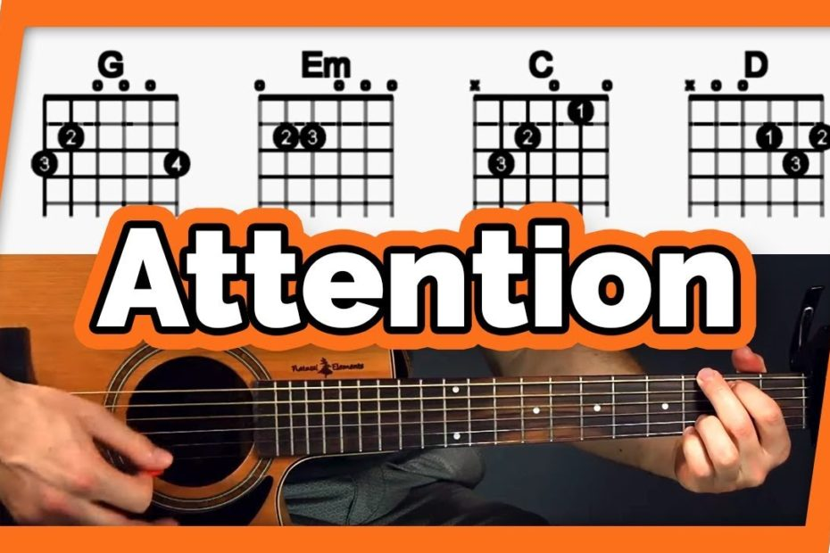 Attention Guitar Tutorial (Charlie Puth) Easy Chords Guitar Lesson