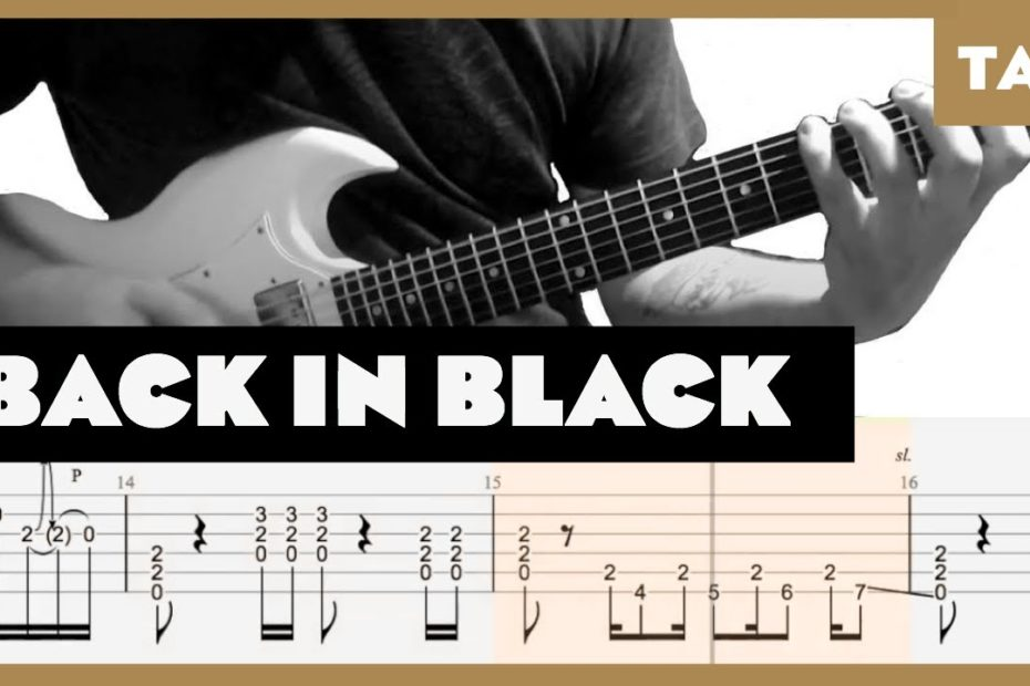 Back in Black AC/DC Cover   Guitar Tab   Lesson   Tutorial
