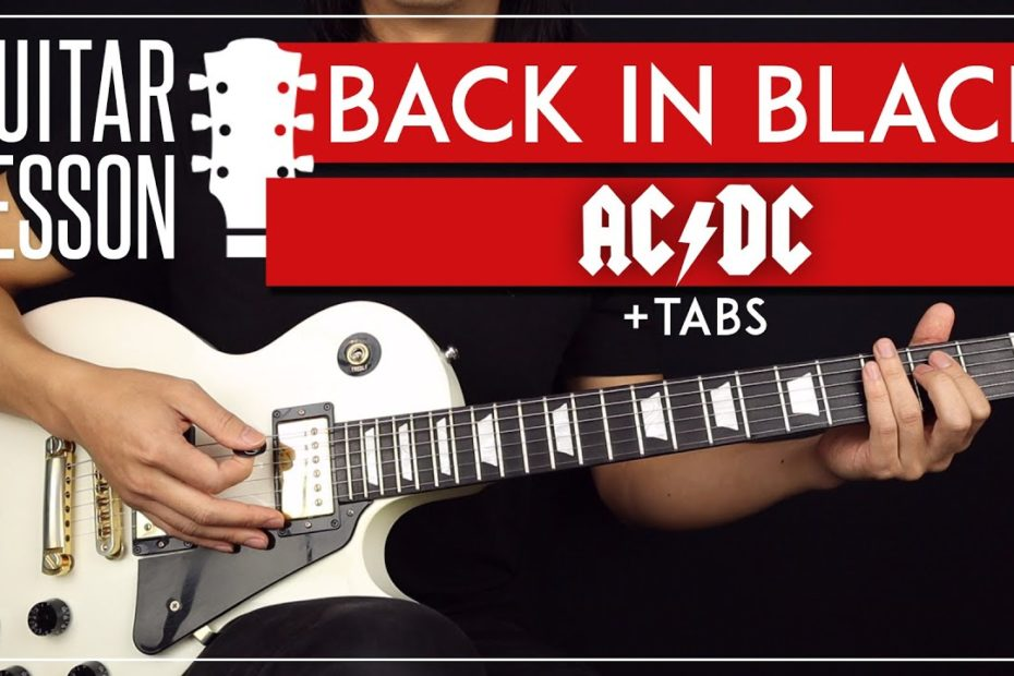 Back In Black Guitar Tutorial  ⚡ ACDC Guitar Lesson  Complete Lesson Rhythm + Solo 