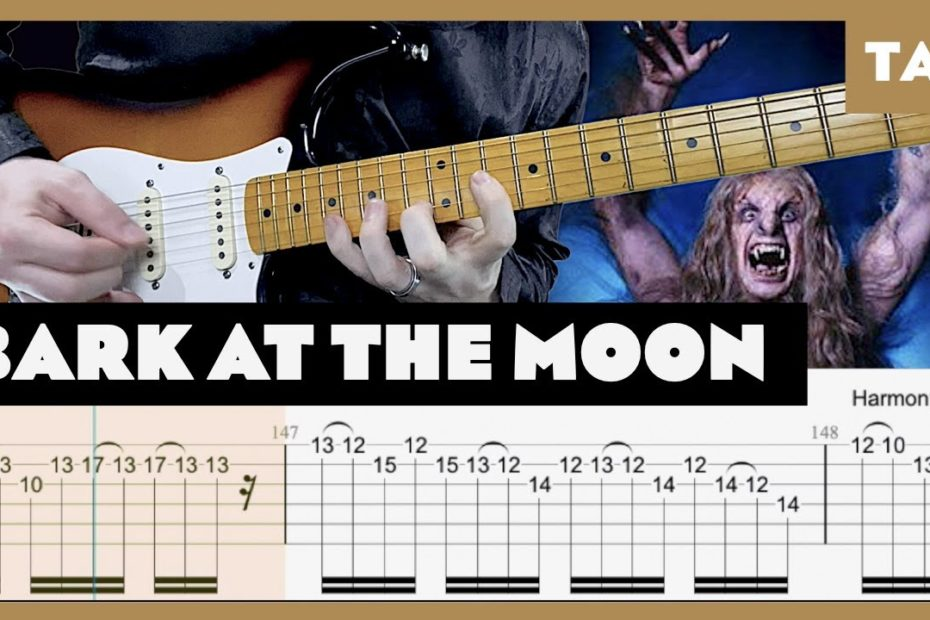 Bark at the Moon Ozzy Osbourne Cover   Guitar Tab   Lesson   Tutorial