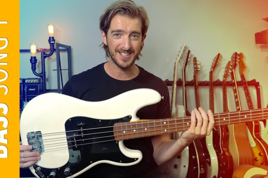 BASS Guitar Song 1 - Seven Nation Army // Bass Lessons for Beginners