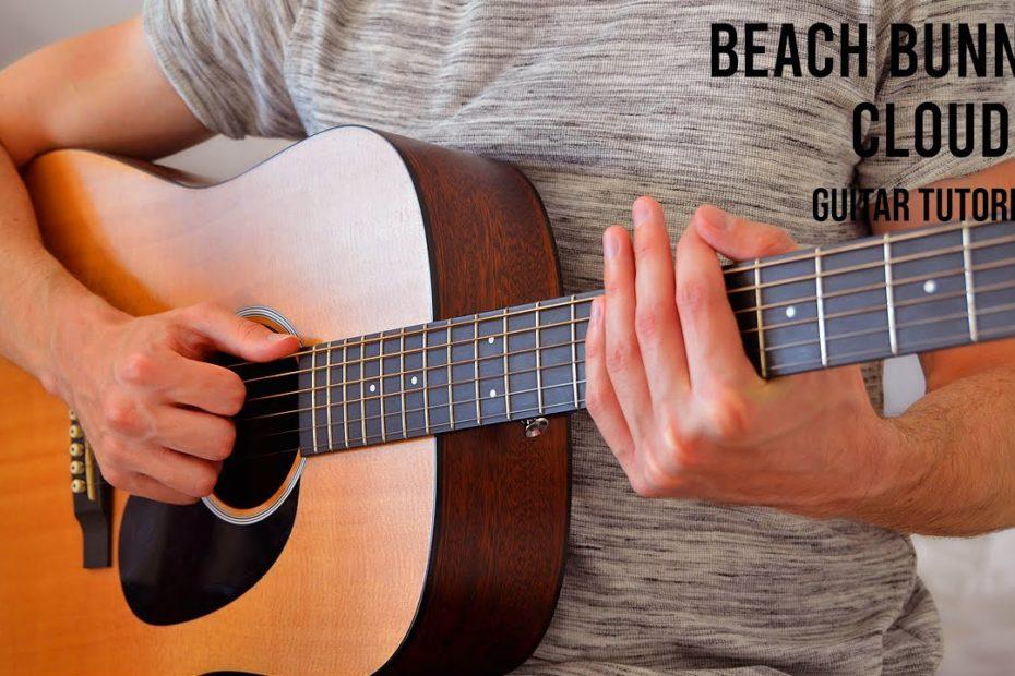 Beach Bunny - Cloud 9 EASY Guitar Tutorial With Chords / Lyrics