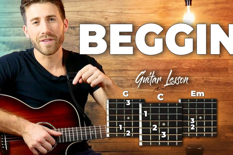 Beggin Guitar Tutorial - Maneskin Guitar Lesson (easy chords)