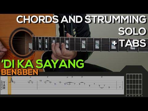 Ben&Ben - 'Di Ka Sayang Guitar Tutorial [INTRO, SOLO, CHORDS AND STRUMMING + TABS]