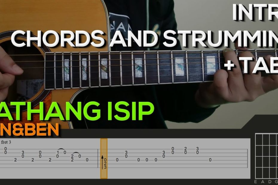 Ben&Ben - Kathang Isip Guitar Tutorial [INTRO, CHORDS AND STRUMMING + TABS]