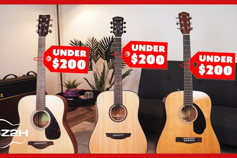 Best Acoustic Guitars Under $200 - Great Guitars For Beginners (2020)