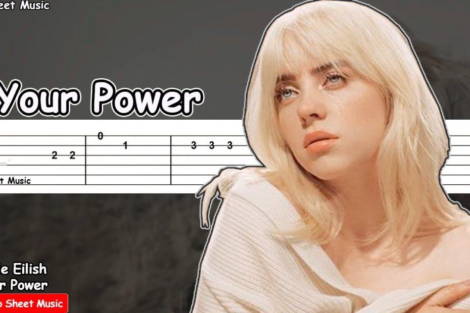Billie Eilish - Your Power Guitar Tutorial | TAB