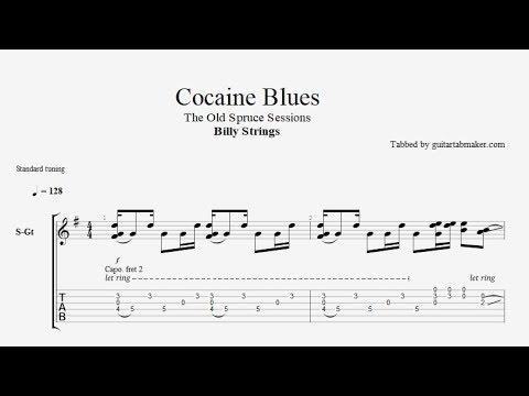 Billy Strings - Cocaine Blues TAB - bluegrass guitar tab (PDF + Guitar Pro)