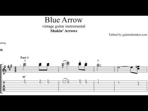 Blue Arrow TAB - guitar instrumental tab - PDF - Guitar Pro