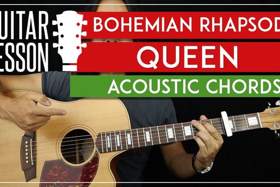 Bohemian Rhapsody Acoustic Chords Guitar Tutorial - Queen Guitar Lesson   |TABS + Easy Strumming|