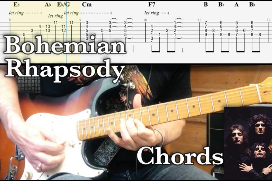 Bohemian Rhapsody Chords (Queen Tutorial TAB Lesson)