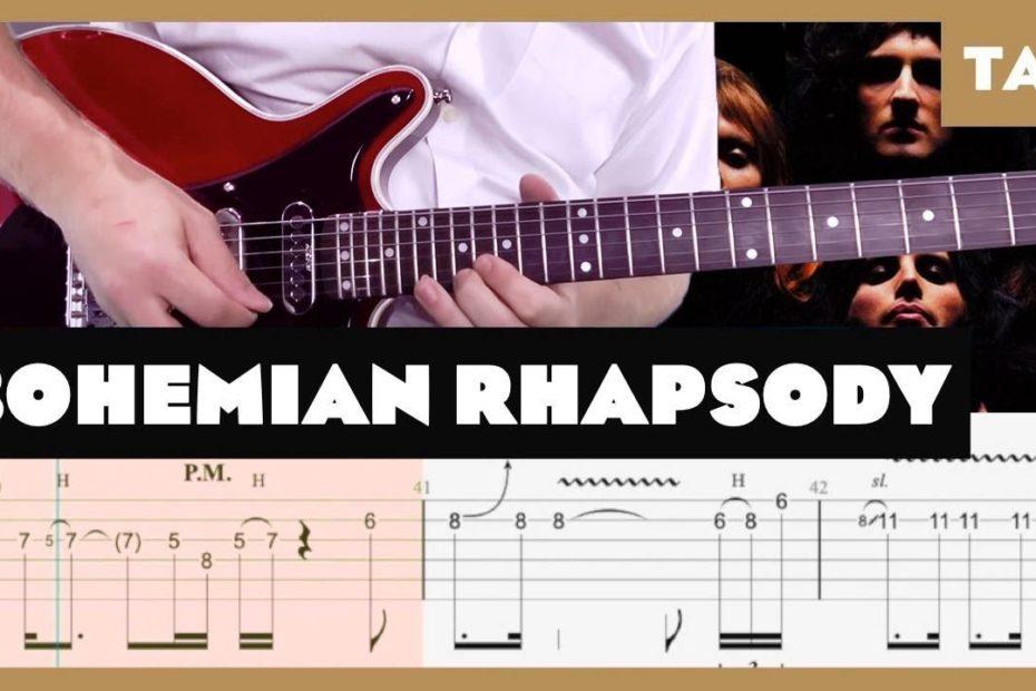 Bohemian Rhapsody Queen Cover | Guitar Tab | Lesson | Tutorial