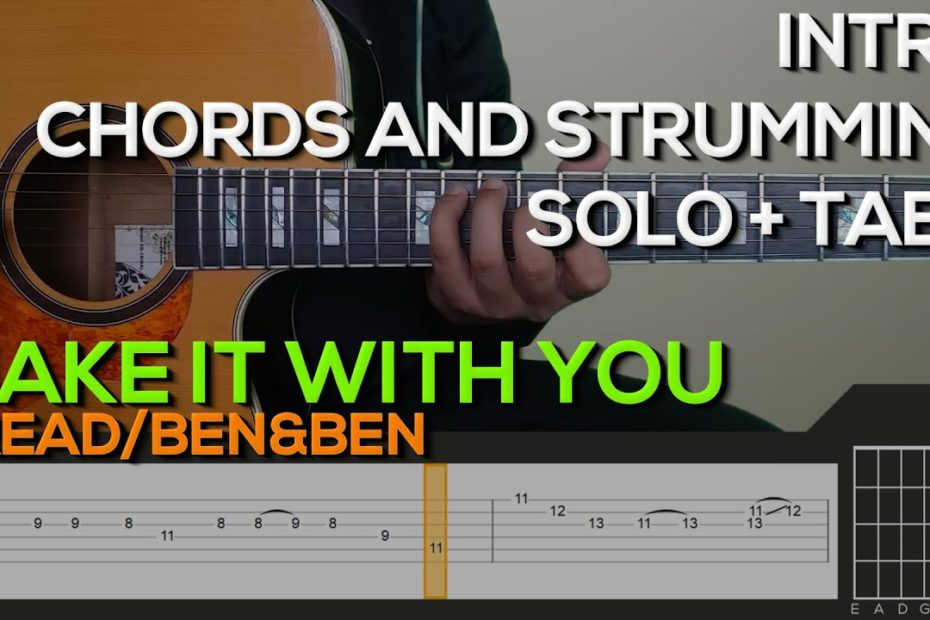 Bread/Ben&Ben - Make It With You Guitar Tutorial [INTRO, SOLO, CHORDS AND STRUMMING + TABS]