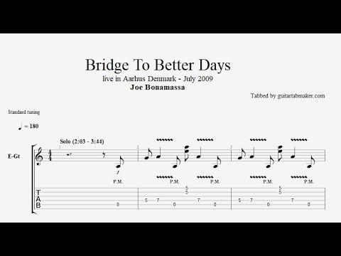 Bridge To Better Days solo TAB - live - guitar solo tab (Guitar Pro)