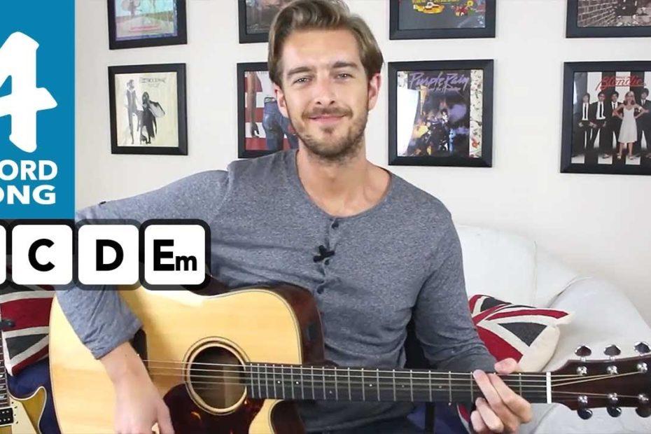 Brown Eyed Girl Guitar Tutorial Lesson - 4 chord guitar songs for beginners - EASY chords