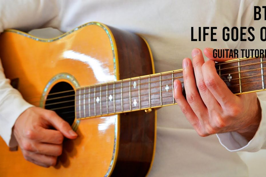 BTS - Life Goes On EASY Guitar Tutorial With Chords / Lyrics