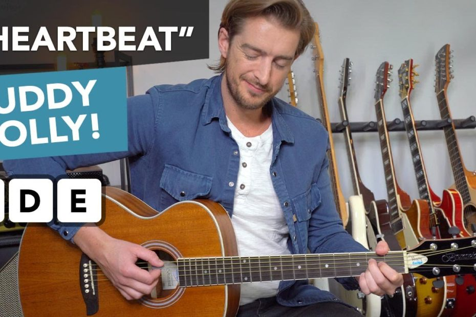"""Buddy Holly """"Heartbeat"""" Guitar Lesson - 3 chord songs on acoustic guitar"""